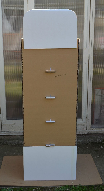 commande sur mesure - présentoir en carton - mhc - Bourgogne - Brazey en Plaine
